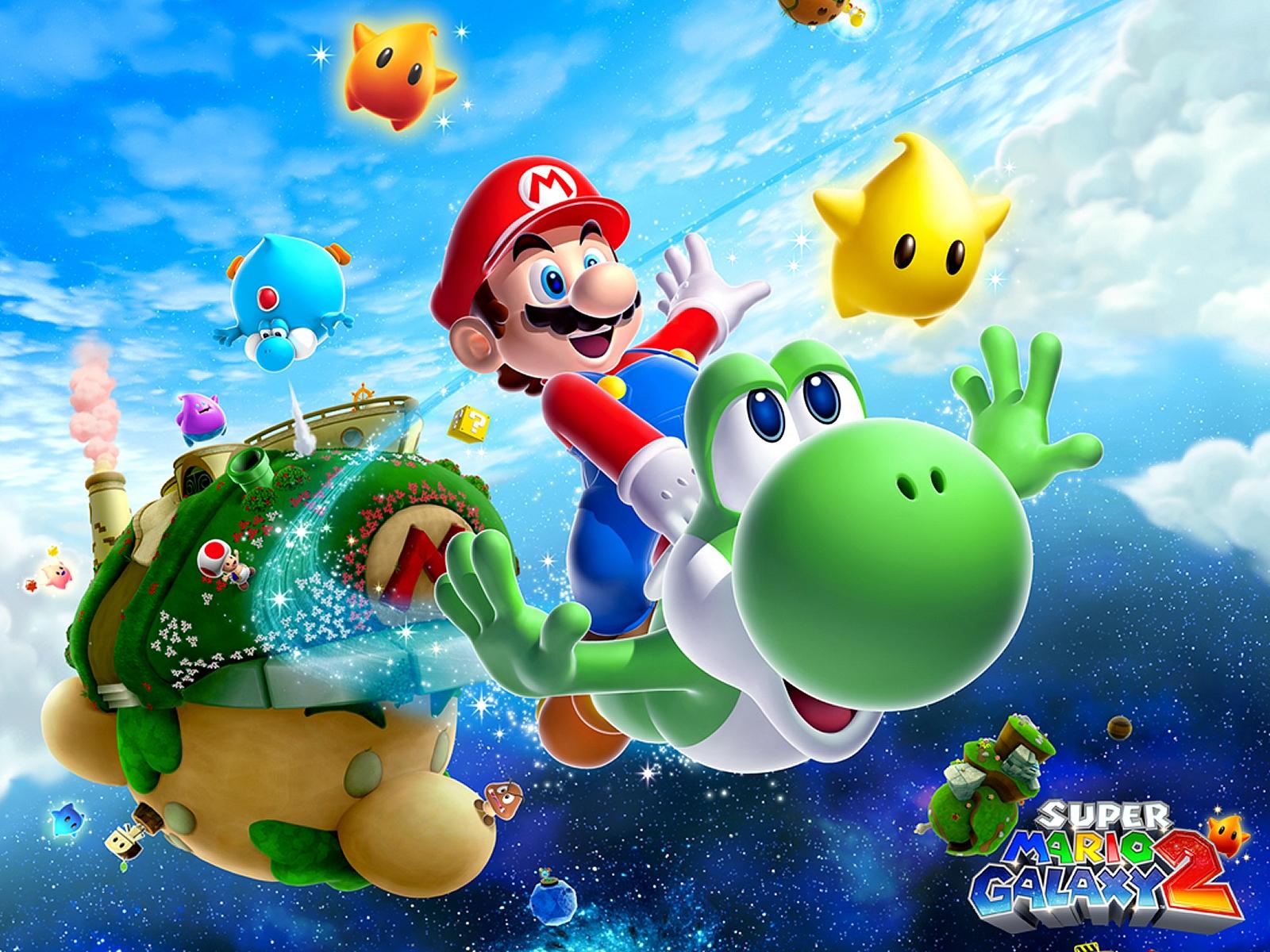 Dan Dare Org Super Mario Galaxy 2 Wallpaper 1600 X 1200 Pixels