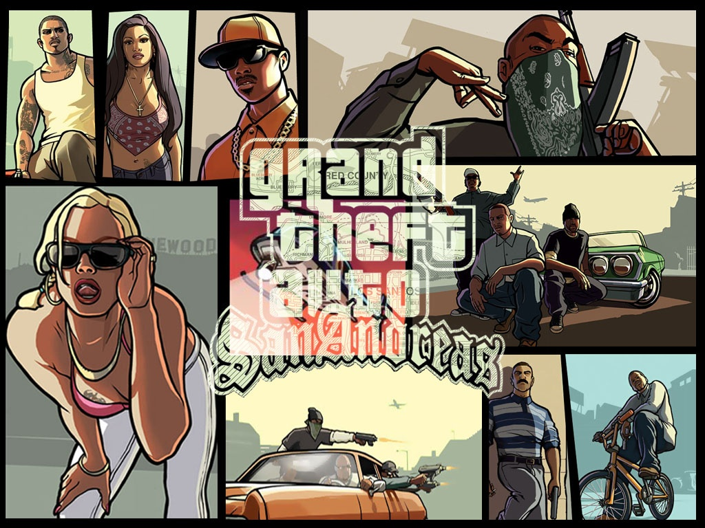 Grand Theft Auto San Andreas Wallpaper 1024 X 768 Pixels